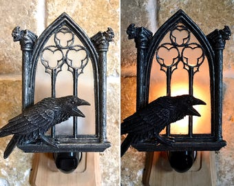Raven and Window Nightlight
