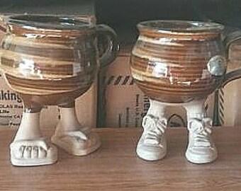 Vintage Muddy Waters Novelty Mugs - Lot of 4