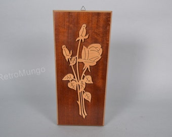German wooden   Wall Hanging decor Roses