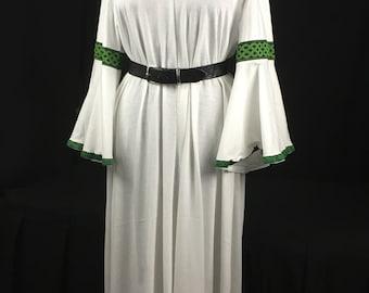 Viking Wedding Underdress - White Undergown - V Neckline - Wedding Gown - Bridesmaid Gown - Hangerok - Norse Dress - Viking Wedding