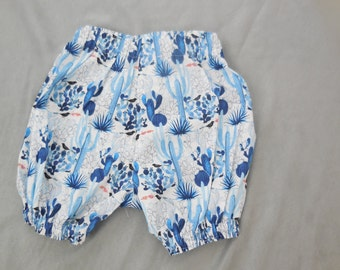 cactus print bloomers, size 3-6 months. One of a Kind