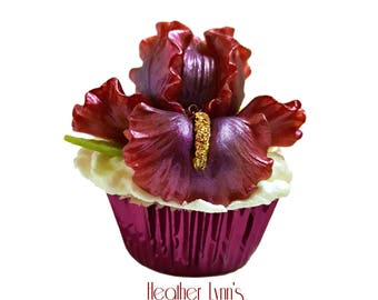 Iris Cupcake Bath Bomb - Bath Bomb Cupcake- Bath Bomb- Bath Fizzer- Bath Cupcake- Whipped Soap Frosting- Gift for Her- Bath Fizzy- Soap
