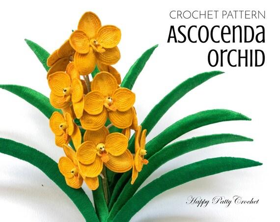 Crochet orchid pattern ascocenda orchid crochet flower ccuart Gallery