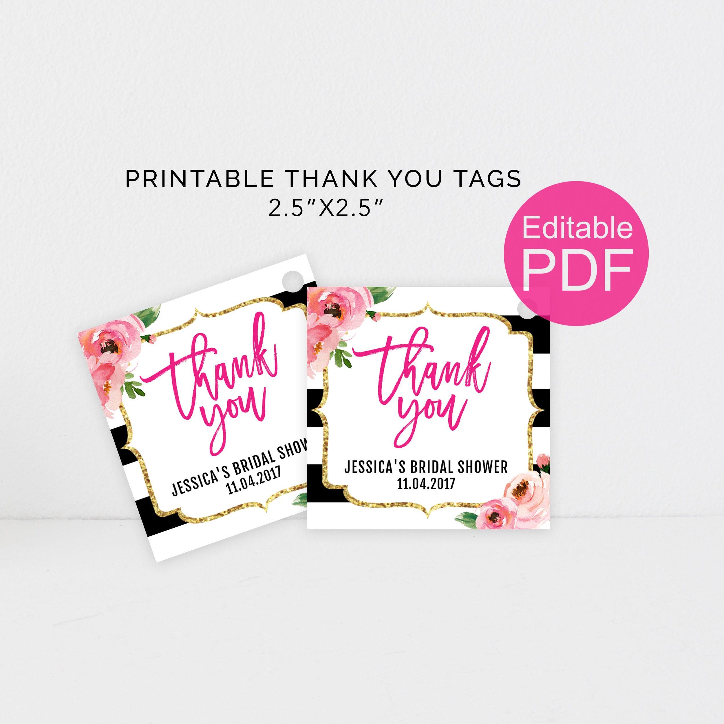 It's just a graphic of Adorable Thank You Tags Printable