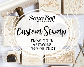 Custom Stamp for Business, Personal or Weddings, Custom Rubber Stamp with your Logo, Invitation or Save the Date, Business Logo Stamp
