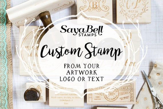 Custom Stamp for Business Personal or Weddings Custom Rubber Stamp