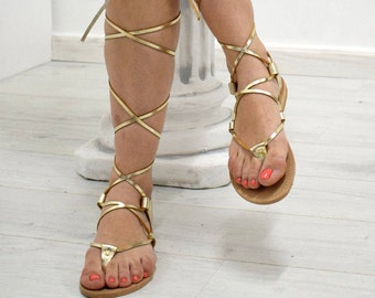 2179e21b4ed7f ELOUNDA  Greek Leather Sandals gold sandals  classic sandals  ankle strap  sandals
