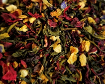 The Changeling - Color-Changing Tea, Lemon Tea, Butterfly Pea Flower, Horror Movie theme, Essential oil, Green Tea, Hibiscus
