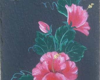 Painted HIBISCUS Slate