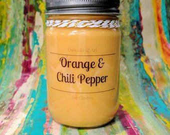 Orange & Chili Pepper | scented soy candle