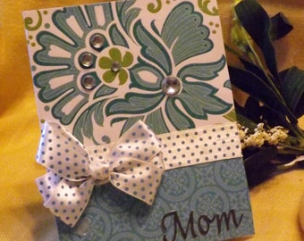 Teal Mother's Day Card