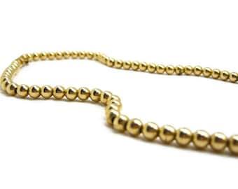 GOLD BALL BEAD Necklace, Antique c. 1900 Jewelry, 14K Gold Filled, Hallmarked, Rare, Victorian & Edwardian Era, Wedding, 3 Petunia Place