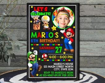 Super Mario  Super Mario Invitation  Super Mario Birthday Invitation Super Mario Birthday  Super Mario Printable  Super Mario Party