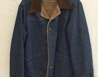 Vintage Wrangler 10oz Denim Lined Jacket M