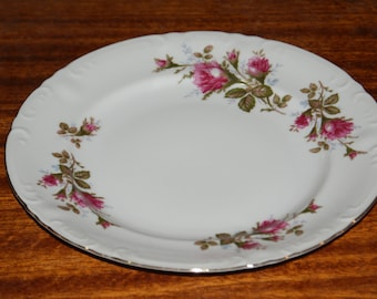 Lipper & Mann (L and M), Pompadour Rose, 10 inch dinner plate