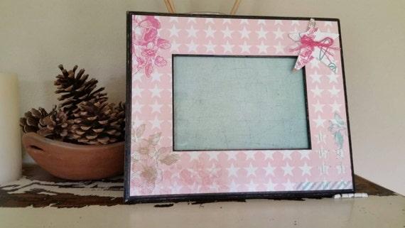 Marco rosa estrellas del país, marco vintage-país, marco rosa, marco ...