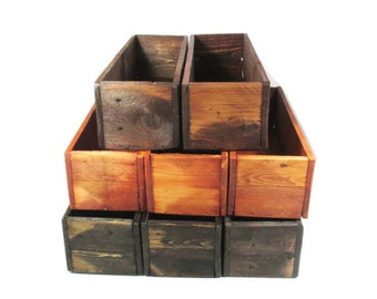 Wedding Table Decor -  10 Wood Centerpiece Boxes - Reclaimed Wood