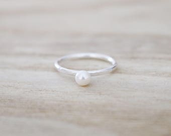 Pearl ring, freshwater pearl ring, silver ring, sterling silver ring, sterling silver pearl ring, pearl rings, pearl jewelry, silver rings