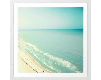 Beach wall art, extra large wall art, beach photography, wall art canvas, beach print, framed wall art, beach prints, beach art, umbrella