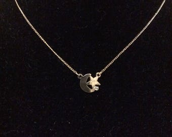 Coro Moon & Star Necklace
