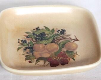 Vintage Summer Fruits Pin Tray - Honiton Pottery
