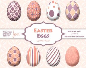 Instant Download Easter Egg Pattern Clipart