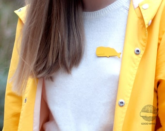 Yellow Whale Brooch (NEW)