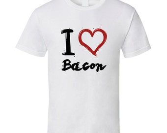 I Heart Bacon Funny Food T Shirt