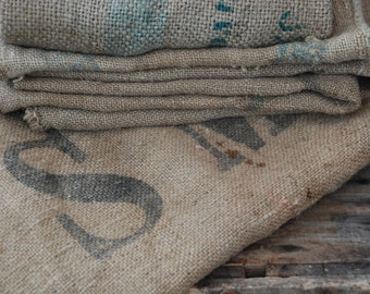 Grain Sack, Hessian upholstery fabric vintage, Burlap bags sewing projects.