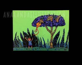 Jiraffe Tree - Original art