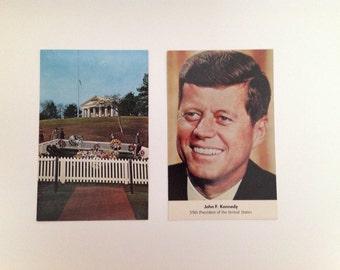 Vintage John F. Kennedy Postcards