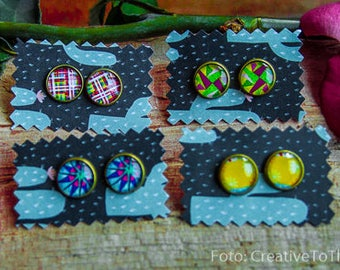 Waldorf Earrings/Stud, 3 for the price of 2, Resin