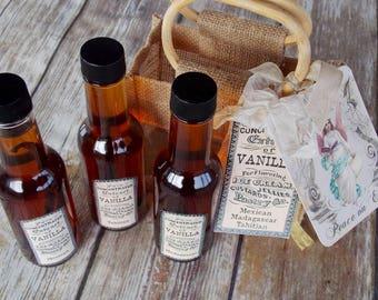 Vanilla Extract ~ Madagascar Vanilla ~ Mexican Vanilla ~ Tahitian Vanilla ~ Vanilla Gift Basket ~ Gourmet Food Gift ~ Chef Gift