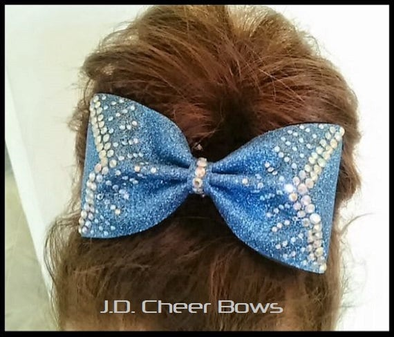 Sparkly Tailless Cheer Bow C