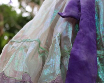 Price Reduced-Handmade Translucent Mermaid Fairy Skirt S/M
