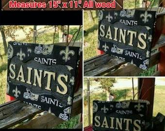 Personalized Nfl Man Cave Signs : Saints man cave etsy