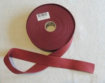Strap bagagere, cotton, Burgundy color, width 3 cm