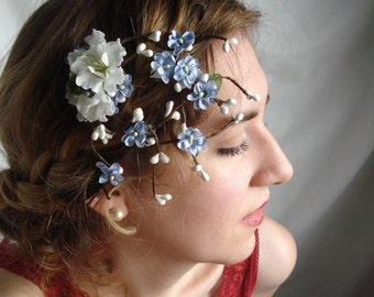 forget me not - a twiggy hair clip