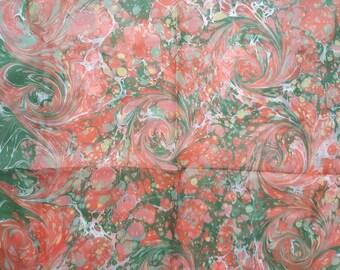 Handmade Ebru 100% Silk Scarf
