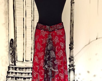 Love2tango Woman SKIRT JaninaMora Tango Milonga Pinup Designer fashion Handmade Limited edition