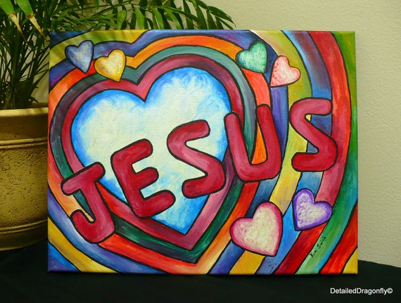 Jesus Painting Original Acrylic Christian Wall Art