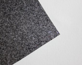 Glitter Fabric Material Gunmetal Gray 8X10 sheet