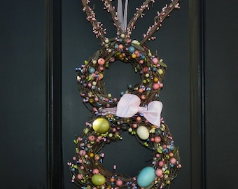 Easter Wreath - Bunny Wreath - Spring Wreath -  Easter Decoration-