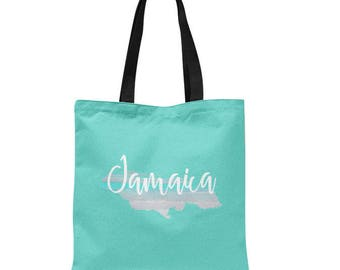 Jamaica Tote Bag, Beach Bag, Beach Vacation Tote, Honeymoon gift, Destination wedding, Jamaica Vacation, 3 sizes