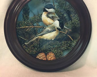 W.L. George Portraits of Exquisite Birds Collector Plate - 'Backyard Treasure: The Chickadee' (#224)