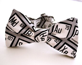 Adult Freestyle Bowtie, Periodic Table of Elements, Science Bow Tie, Nerd Gifts, Element Bow Tie, Self Tie Bow Tie, Adjustable Bow Tie