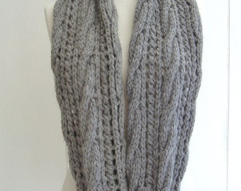 Knitting Scarf Patterns Infinity Scarf : Knitting pattern infinity scarf quick and easy beginner