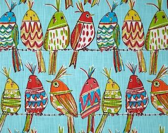 Richloom's Sitting Pretty Artsy Birds,  Curtain Panels or Valances -  Custom, Made To Order