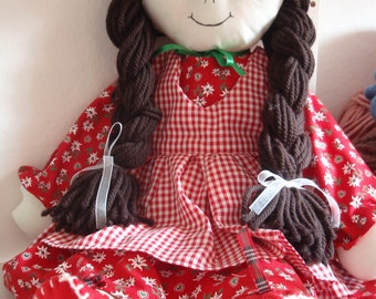 Pattern Rag Doll Cloth Doll PDF DIY Free Shipping