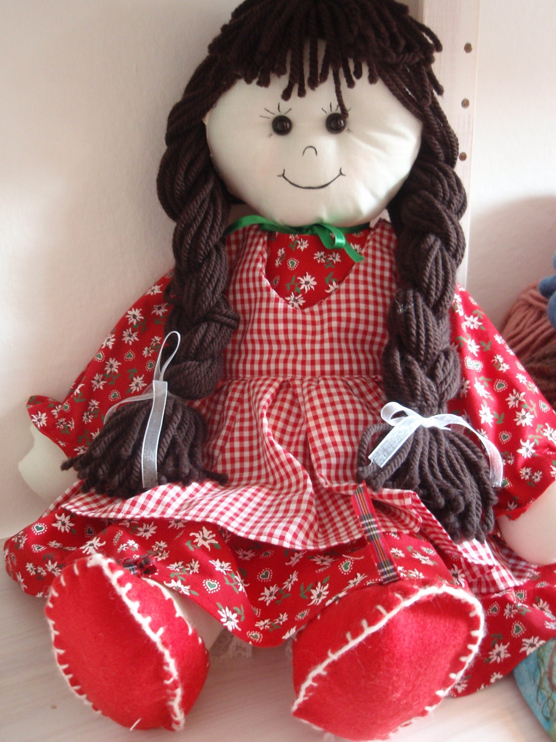 Pattern Rag Doll Cloth Doll PDF DIY Free Shipping from lallehandmade ...